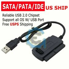 IDE SATA to USB2.0 Adapter Converter Cable For 2.5 3.5 Inch Hard Drive HD