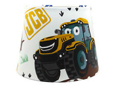 JCB Digger Lampshade Ceiling Light Shade Boys Bedroom Nursery Lamps Tractor Gift