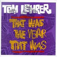 TOM LEHRER : THAT WAS THE YEAR THAT WAS (CD) sealed