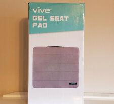 Vive Gel Seat Pad Cushion * Orthopedic Reduce Pain Sitting Pillow * Grey NEW