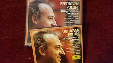 BEETHOVEN - 5 KLAVIERKONZERTE (MAURIZIO POLLINI). BOX 3 CD DEUTSCHE GRAMMOPHON