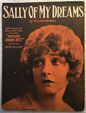 Sally of My Dreams (1928, Sheet Music) Movie Mother Knows Best Madge Bellamy VTG