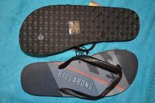 New Billabong Logo Surf Thongs Mens Size 11 Black/Red JONOVAN Quality Surfwear
