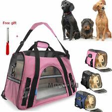 New listing Pet Carrier Soft Sided Large Cat/Dog Comfort Travel Bag Oxford Airline Approved