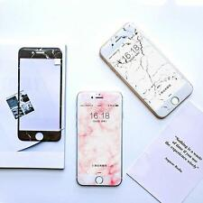For iPhone 7 7plus 6 6s Granite Marble Grain Tempered Glass Screen Protector w