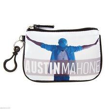 Austin Mahone Coin Purse AM Mahomie Zip Top Closure White Change Wallet NWT
