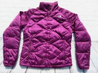 Womens NORTH FACE Purple Aconcagua 550 Goose Down Puffer Sweater Jacket Medium