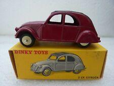 DINKY TOYS FRANCE REF 24 T CITROEN 2 CV GRENAT QUASI NEUVE + BOITE D ORIGINE
