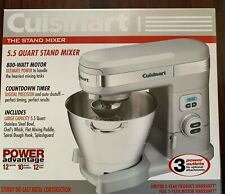 NEW CUISINART SM-55BC BRUSHED CHROME 5.5QT ELECTRIC 12 SPEED STAND MIXER