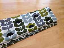 Roman Blind Orla Kiely Sweet Pea Interlined Self Locking Side Chain Track MTM