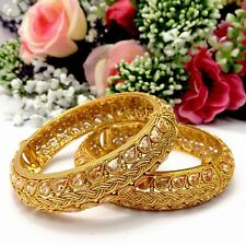 Indian Polki Bangles Size:2.4 Wedding Ethnic Wear Bridal Jewellery Bollywood