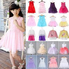 Baby Kids Girl Dress Summer Toddler Princess Party Skirt Tutu Lace Tulle Skirts