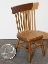 Dollhouse Miniature Kitchen Side Chair Walnut Finish 1:12  one inch scale D52