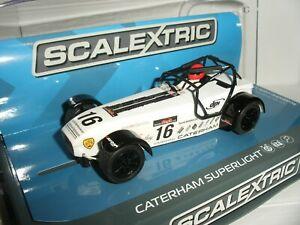 Scalextric - C3723 Caterham Superlight R300-S White #16 Robinson - New & Boxed