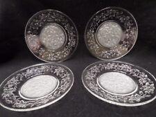 Princess House Fantasia Set of 4 Luncheon/Dessert  Plates- Perfect Condition