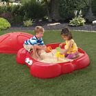 Sandbox Cover Sand Kids Outdoor Play Backyard Set Toy Box Toys Plastic Children