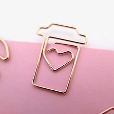 Paper Clips Rose Gold Coffee Cup Planner Accessories Paperclip Set of 4