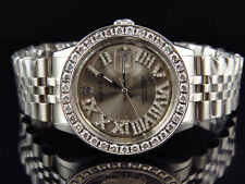 Mens Stainless Steel Rolex Datejust Jubilee 36 MM with Roman Number Watch 3.5 Ct