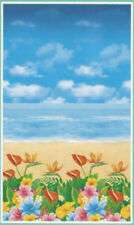 TROPICAL BEACH Scene Setter LUAU party wall or door poster decoration ocean sea
