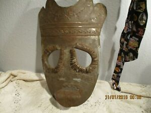 Unusual thin metal Face Mask  - Hand Made?  Halloween