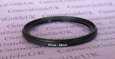 67mm to 58mm 67mm-58mm Stepping Step Down Filter Ring Adapter