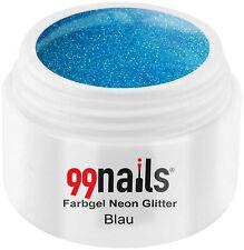 Farbgel Neon Glitter - Blau 5ml - Gel Farbe Neon Glitzer Blau UV Farbgel UV Gel