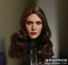 "1:6 Scale Elizabeth Olsen Scarlet Witch Female Head Sculpt F 12"" Action Figures"
