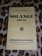 SOLANGE AND CO - Pierre Trocmé - Renaissance du livre, 1928