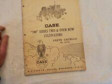 CASE 700 SERIES TWO & FOUR ROW CULTIVATORS PARTS CATALOG NO.A774