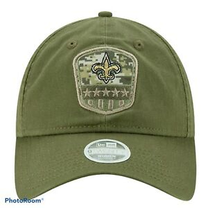 NWT New Orleans Saints NFL NEW ERA Salute To Service Women's Olive Camo Hat Cap