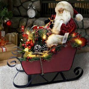 Hemoton 12 Pezzi Porta Argenteria Natalizia Tasche Babbo Natale Elfo a Forma di Bambola Portaposate Borsa Portautensili per Decorazioni Natalizie da Tavola