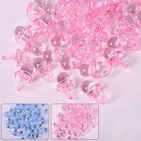 AU_ KQ_ 50x Pink Mini Pacifiers Baby Girl Boy Nipple Shower Party Favor Cake Dec