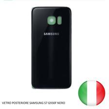 SCOCCA VETRO POSTERIORE RETRO BACK COVER SAMSUNG GALAXY S7 G930F NERO