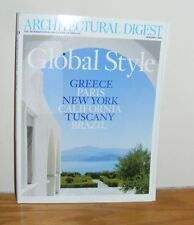 Architectural Digest January 2011 Global Style Greece Paris Tuscany Brazil NY