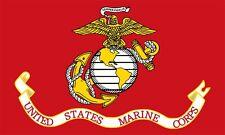 3x5 inch US Marine Corps FLAG Sticker - red marines usmc military eagle logo