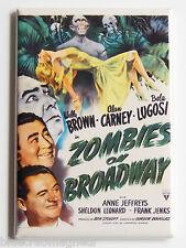 Zombies on Broadway FRIDGE MAGNET (2 x 3 inches) movie poster bela lugosi