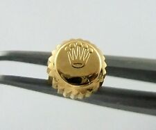 Used 18k Yellow Gold Tudor Princess Oyster Date 5.3mm Watch Crown 24-530-8 Part