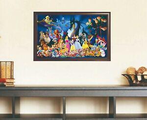 Unframed Disney Characters Little Mermaid Canvas Print High Quality Home Decor
