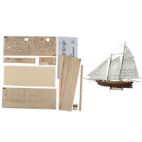 1:120 DIY Wooden Assembly Sailing Ship Model Classic Sailing Boat Puzzle Toys BD