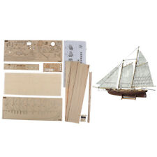 1:120 DIY Wooden Assembly Sailing Ship Model Classic Sailing Boat Puzzle Toys_EO