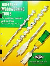 Greenlee Woodworking Tools Catalog 37-H Rockford Illinois 1963