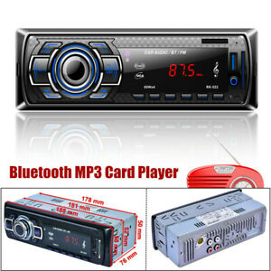 12V Bluetooth Universal Car Stereo Audio FM Radio AUX/USB/SD/U Disk MP3 Player