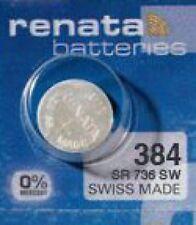 1 x Renata 384 Uhrenbatterie Knopfzelle SR41 SR736 V384 Batterie 1,55 V 45mAh