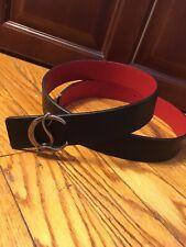 Christian Louboutin Authentic Reversible Belt 95cm 32-34 Waist Silver Buckle