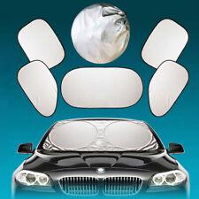 6pc Car Front+Rear+Side Shields Window Sun UV Protector Shade Folded Cover Visor