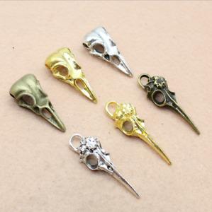 4/12pcs Vintage alloy pendant skull bird head handmade alloy accessories 32X14mm