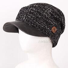 brim BEANIE visor best winter Hats man woman ski snowboard Cap DBsBk black-white