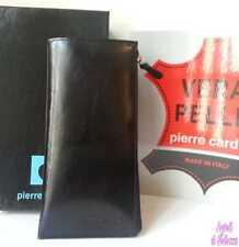 8db7c03d79 Portafoglio verticale Pierre Cardin Donna in vera Pelle Color Nero  Semi-lucido
