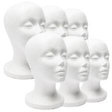 FEMALE FOAM MANNEQUIN HEAD MODEL HAT WIG JEWELRY HOLDER DISPLAY STAND RACK BONZE