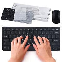 Mini Funkmaus Mouse + Funk Tastatur Keyboard Set 2.4G Wireless Für PC Laptop NEU